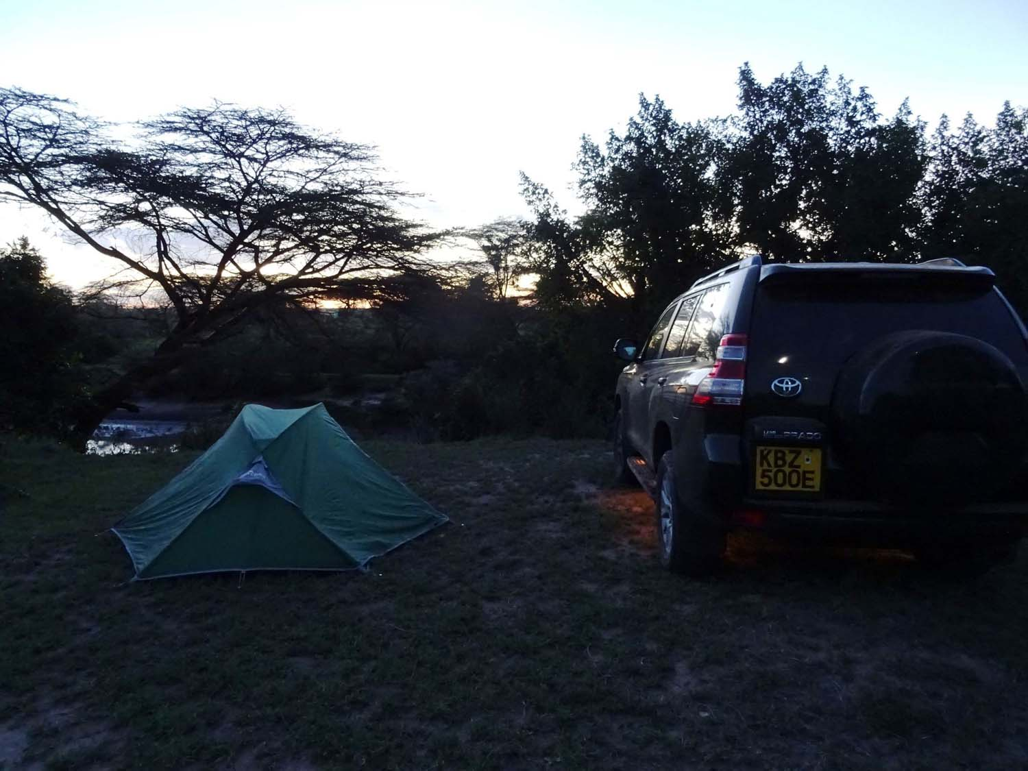 our campsite at Aruba camp just outside the Masai Mara