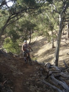 Alistair on the trails