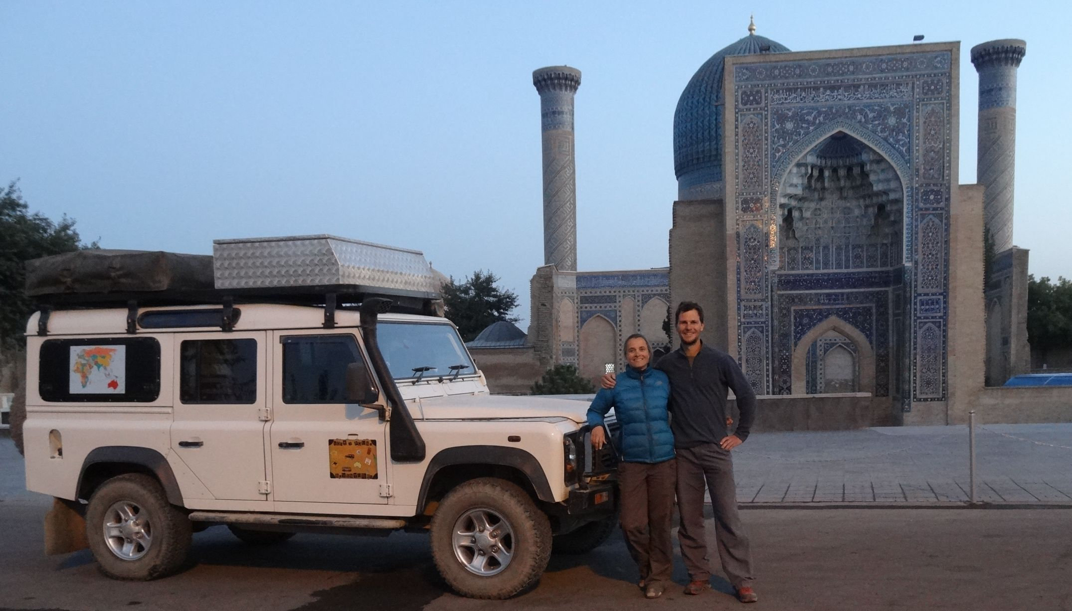 our favourite mausoleum in Samarkand: Gur-e-Amir where Timur (Tamerlane) is burried