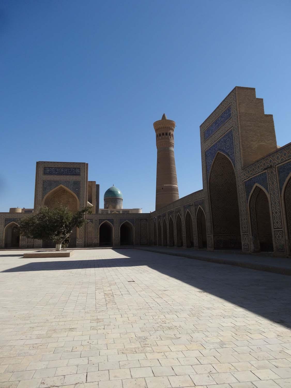 Kalon medrassa and minaret in Buchara, so peaceful and serene