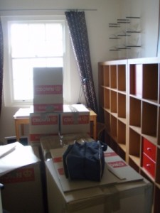 lots of boxes everywhere