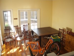 and soon our new home is filling up with stuff, this will be our dining room