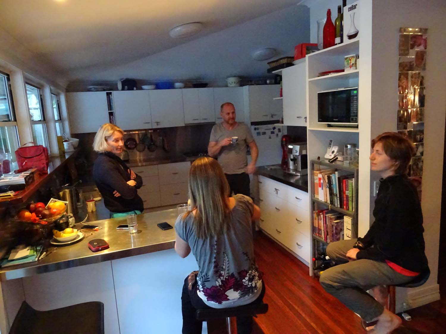 last Ozzie cuppa at Marjolein's place