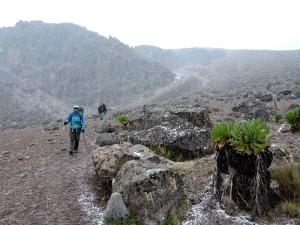 walking in the sleet, a little higher it was snowing but it turned to sleet lower down