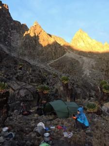 breakfast at Kami Tarn Camp