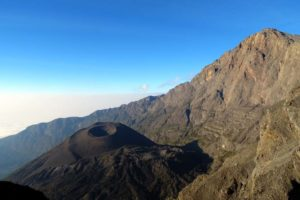 stunning views of the top of Mt Meru and the ash cone