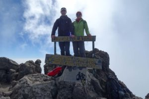 Jon and Jude on top of Mt Meru - 4562m