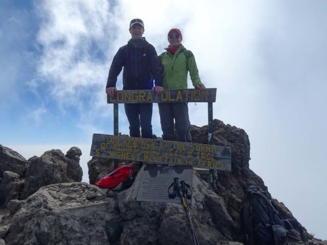 Hiking to the top of the 4th highest peak in Africa