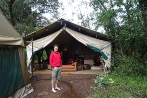 our living room in the Nairobi National Park