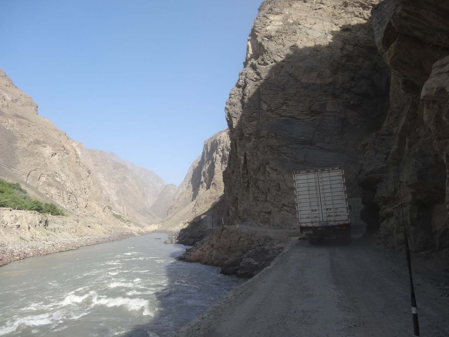 overtaking on the road to Dushanbe was a bit of a challenge
