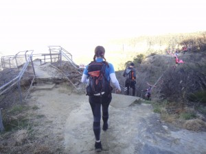 lots of steps and ups and downs on the trails