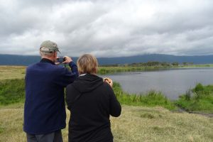 Nico and Riet taking photos of the hippos