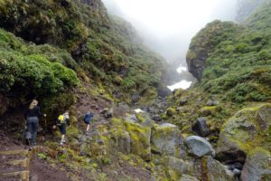 hiking on Mt Taranaki with Graeme and Ben