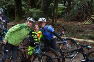 Jude, Ben and Kathy in Rotorua