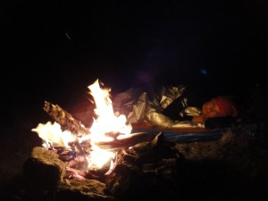 sleeping under the stars around the campfire on Ruth's Flat