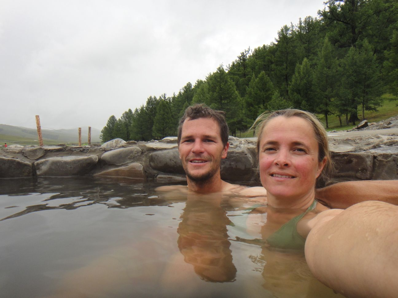 well-deserved hot spring soak!