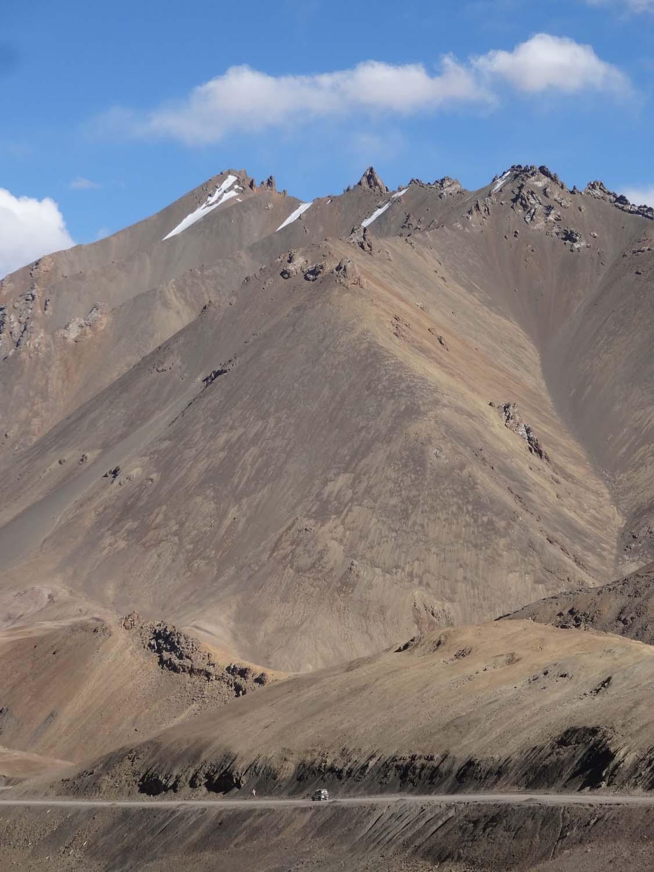 Lara cruisin' on the Pamir Highway