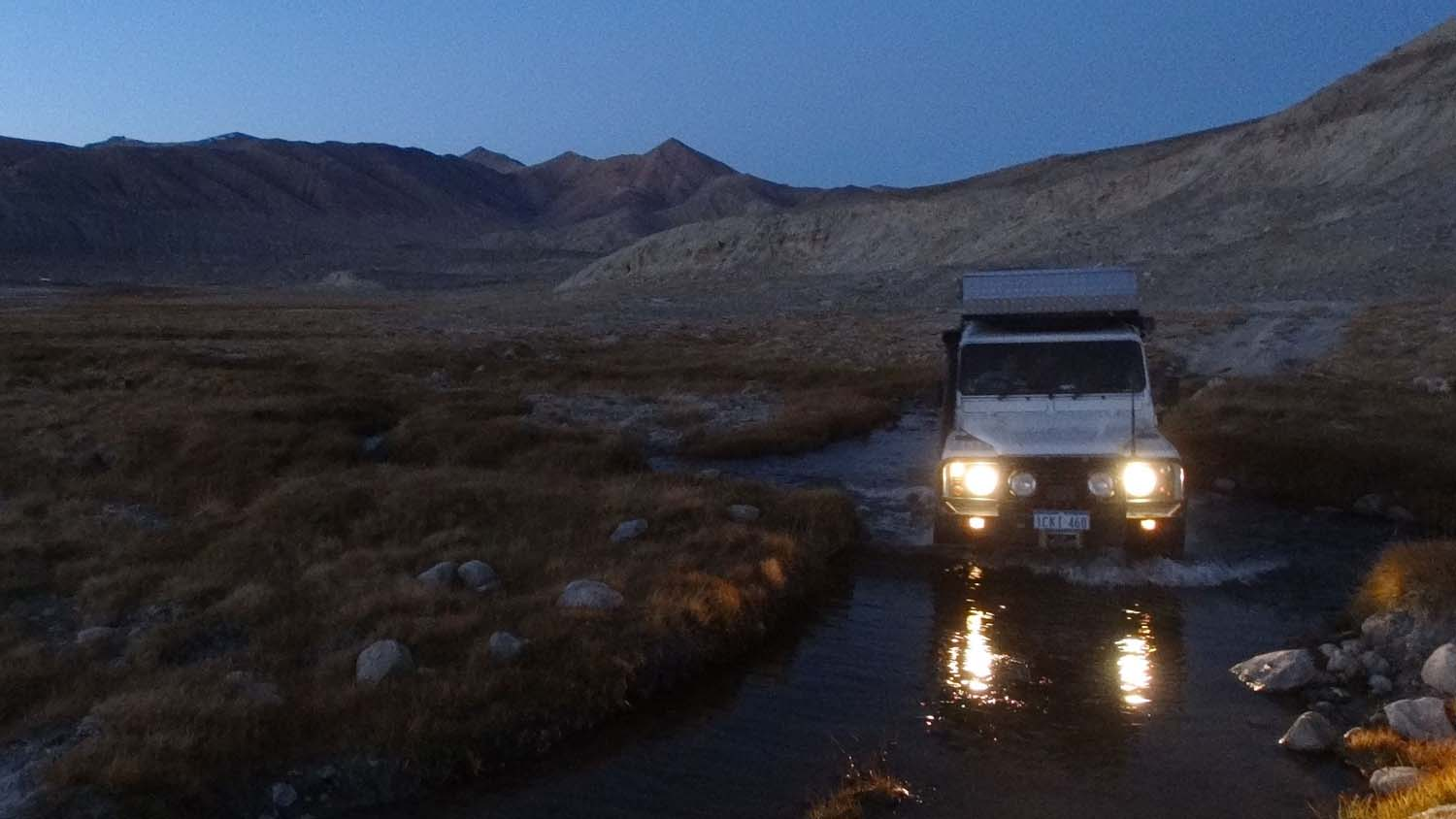 losing daylight rapidly in this remote valley with lots of dead-end tracks