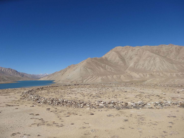 ancient stone circles near lake Yashil-Kul