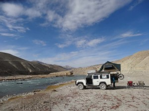 Birthday camp site for Jude in the Pamir Valley in Tajikistan with Afghanistan on the other side of the river.