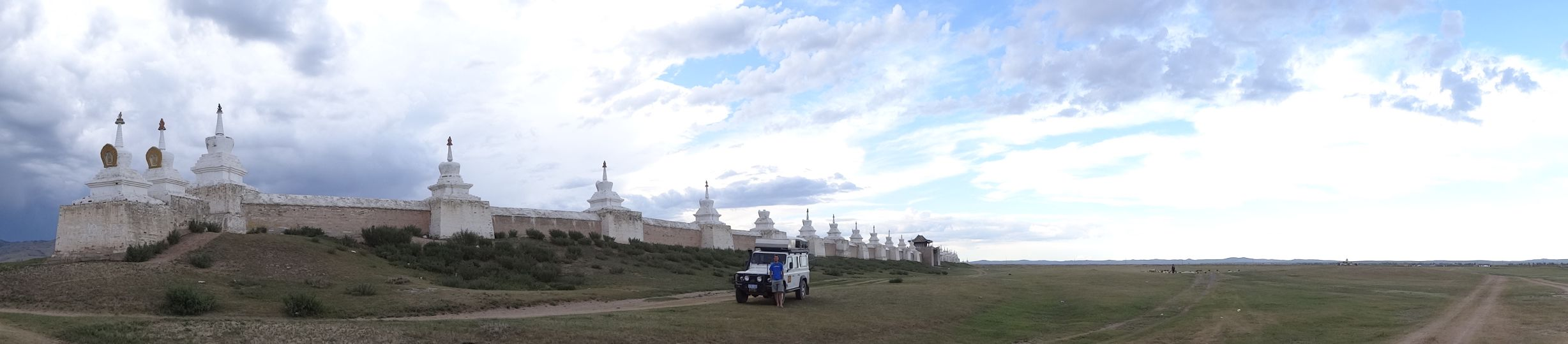 Mongolia's first Buddhist Monastery and our camp site in Karakoram