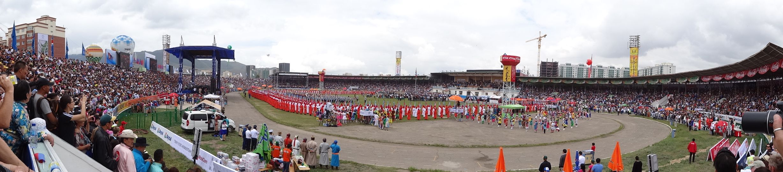 opening ceremony of Naadam in Ullanbaatar