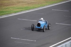 George racing in his Bugatti