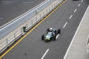 Jon driving through pitlane to the starting grid