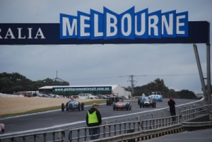 the Melbourne start / finish line