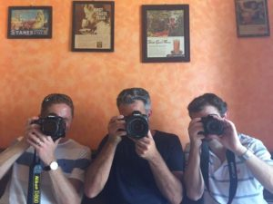 morning tea at the Zanzibar Coffee House - Carl, Tom and Karl