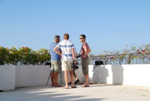 using the presidential suite terrace we can take pictures of the dhows and beach life below