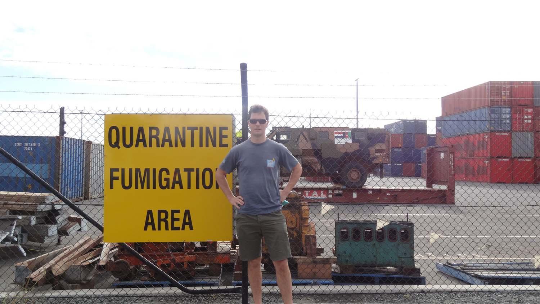 quarantine yard in Bribane