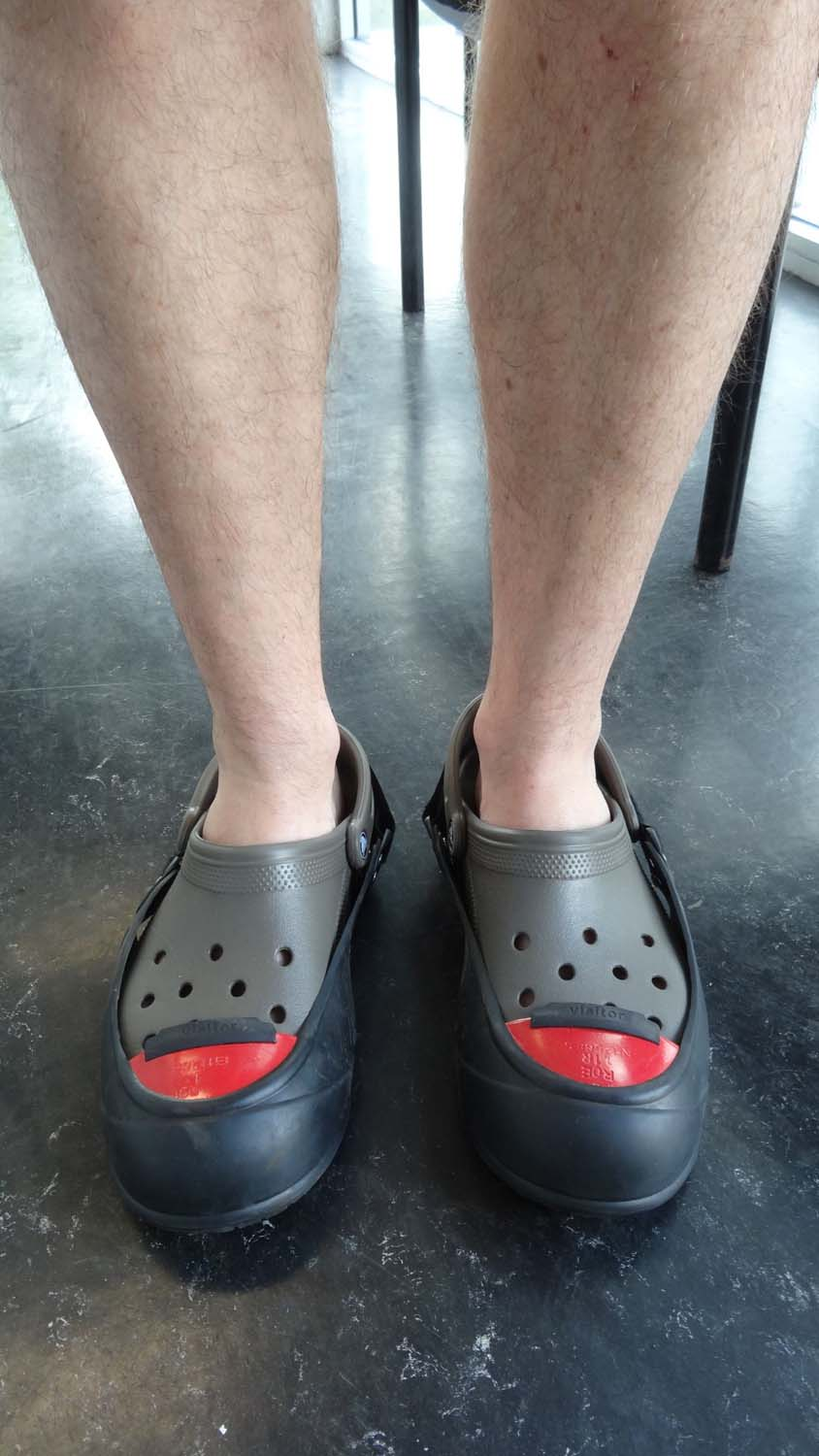 crocs become safety shoes!
