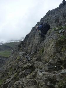 going steep down towards the Refugio de Goriz
