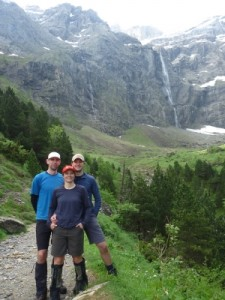 the highest waterfall in Europe in the Cirque de Gavarnie
