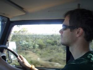 Jon driving Lara