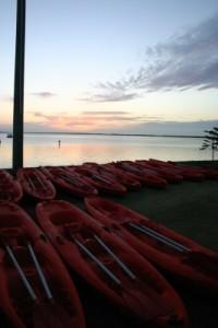 kayaks waiting for us at the TA