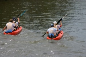 it was an easy start on the paddle