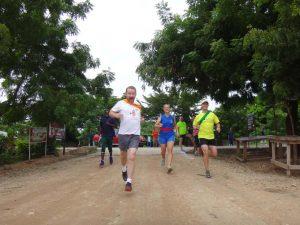 Jon starting on his run