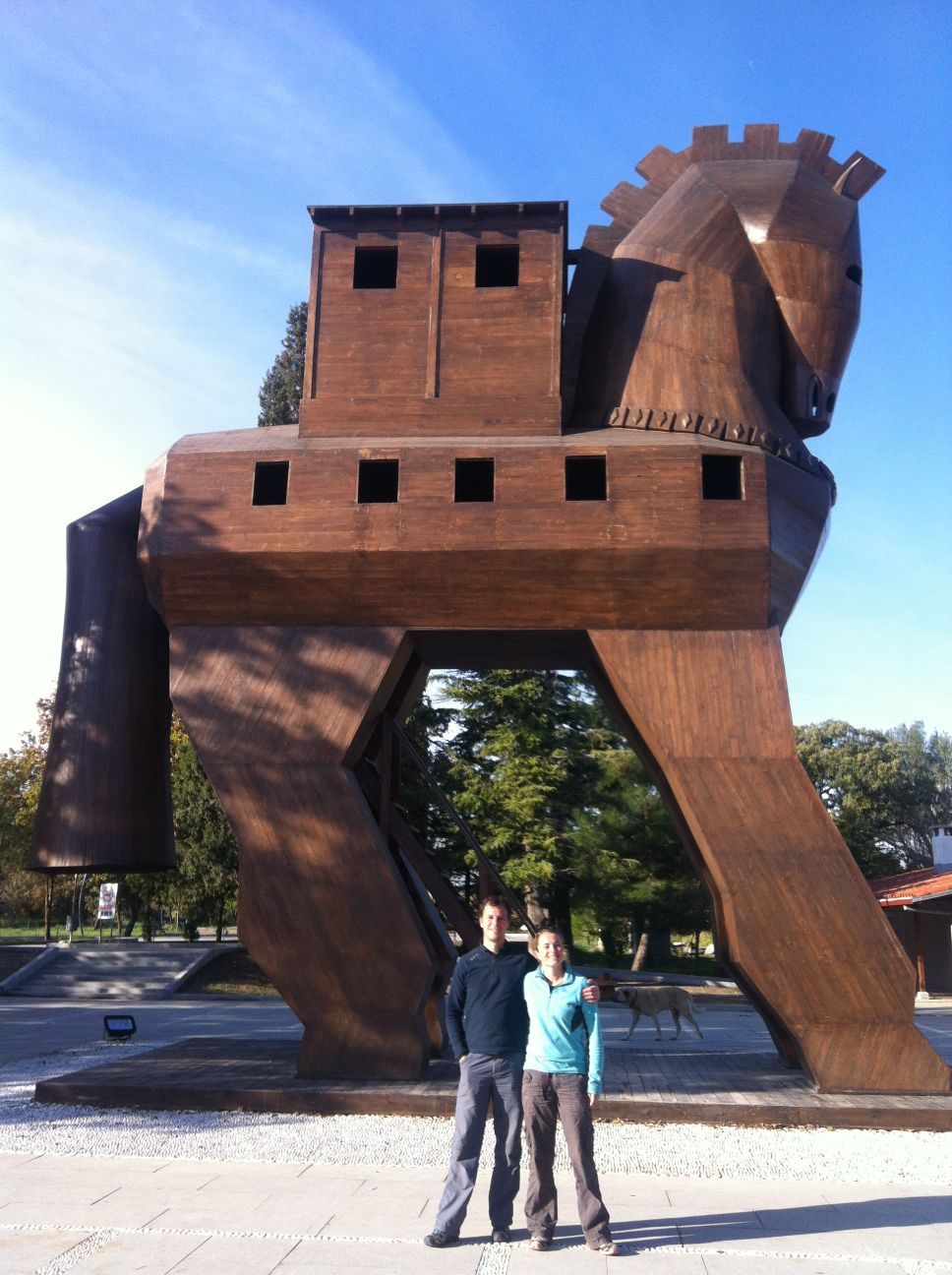 the wooden Trojan Horse, a nice story but not necessarily true