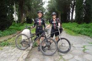 The Kenyan Riders in Rome (Shane and Jude), riding the Via Appia
