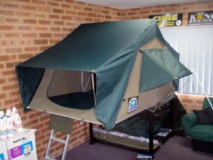 the Hannibal roof tent in the shop