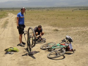 this is what happens a lot to people not riding tubeless tyres in Kenya!