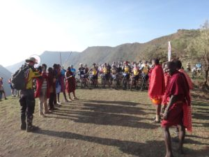 the blessing ceremony by the Maasai elders