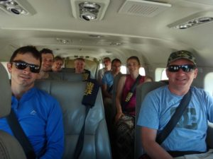 our own charter flight back to Nairobi from the Masai Mara: Grant, Jon, Bernie, Dave, Darren, Dimple, Jude and Alex