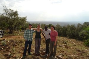 Jon, Jude, Marcel and Suzanne with the stunning backdrop of the Mara North Conservancy