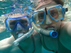 Jon and Jude snorkelling