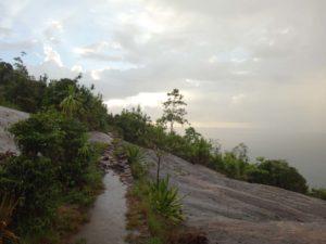 wet but beautiful walk (looking towards Anse Major)