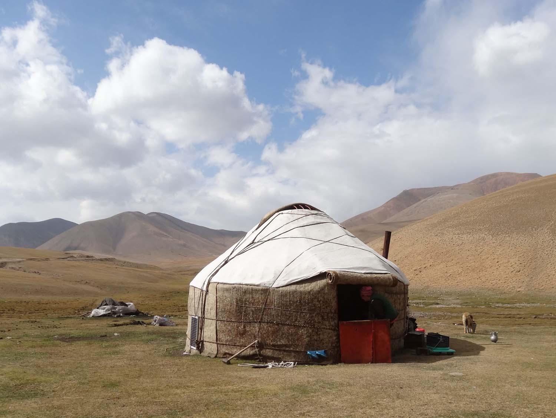 a yurt in Kyrgyzstan