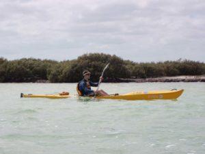 Jon kayaking in the bay